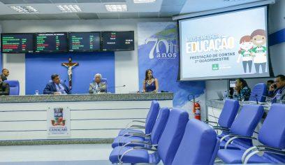 Seduc presta contas em Audiência Pública na Câmara de Camaçari