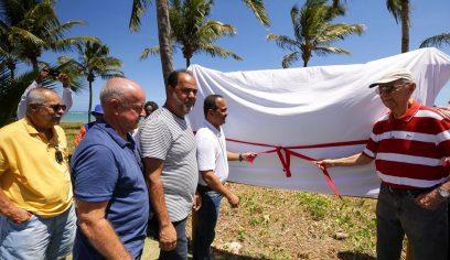 Guarajuba recebe marco de identificação para pleitear certificação internacional