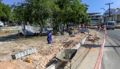 Obras no Centro serão interrompidas durante mês de dezembro