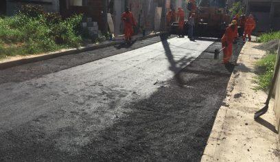 Ruas da Fonte da Caixa recebem pavimentação