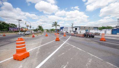 Trânsito na Av. Jorge Amado passa por modificações