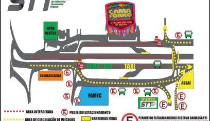 STT realiza alterações no trânsito da Av. Jorge Amado durante o Camaforró 2019
