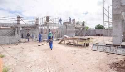Obras na creche da Av. Industrial Urbana seguem em ritmo acelerado