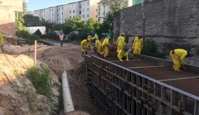 Obras do Rio Camaçari seguem em ritmo acelerado