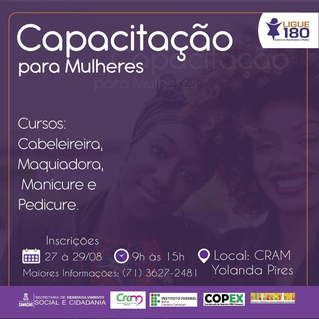 Prefeitura e IFBA oferecem vagas em cursos de capacitação para mulheres 2