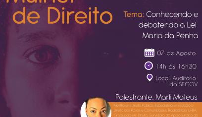 Seminário Mulher de Direito acontece nesta quarta-feira (07)