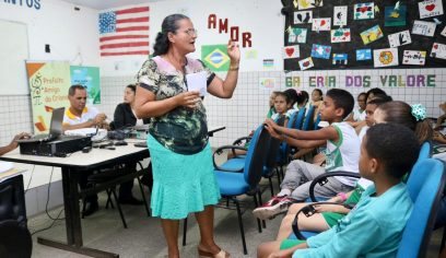 Centro Educacional Reitor Edgard Santos recebe oficina do Prefeito Amigo da Criança