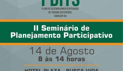 Prefeitura e Sebrae realizam 2º Seminário Participativo de Turismo