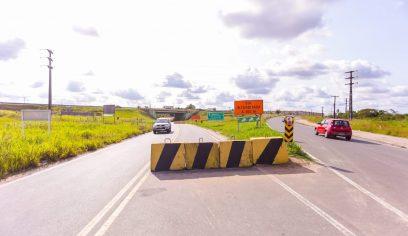 Interdição de trecho sob o viaduto da Cascalheira gera mudança de trânsito