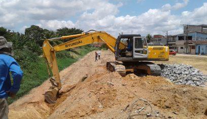 Obras do Rio avançam em trecho do bairro Nova Vitória
