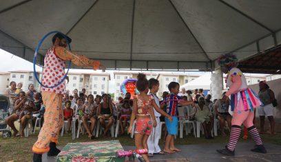 Brincadeiras e atividades marcam Feira de Cidadania no Algarobas