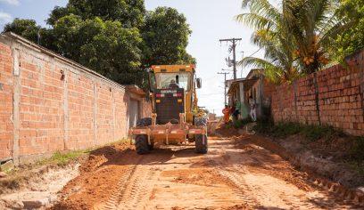 Mais três ruas do Parque Verde II recebem pavimentação asfáltica