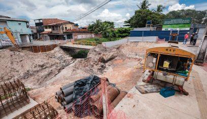 Prefeitura inicia execução de seis pontes na Bacia do Rio Camaçari
