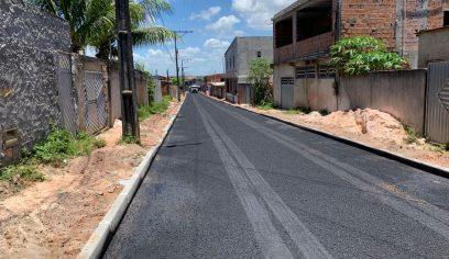 Prefeitura realiza pavimentação asfáltica no Parque Verde II