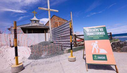 Obras de requalificação continuam na praia de Arembepe