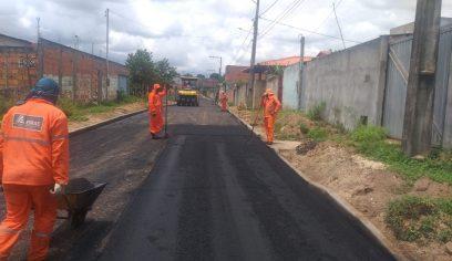 Ruas do Parque Verde II recebem pavimentação asfáltica
