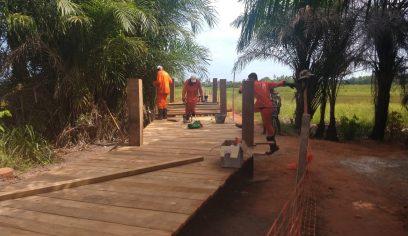 Construção de pontes segue em ritmo acelerado
