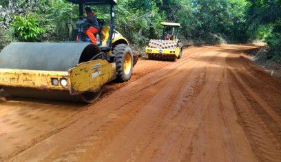 Pavimentação de estradas vicinais leva mais qualidade de vida à população