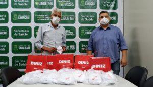 Secretaria da Saúde recebe doação de 300 máscaras