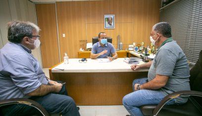 Sedap discute andamento de ações da pasta com o prefeito