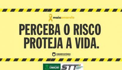 STT pede segurança no trânsito através da campanha Maio Amarelo