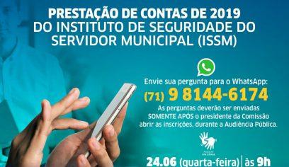ISSM realiza Audiência Pública para prestação de contas de 2019