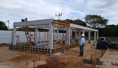 Prefeito visita obras de requalificação da Praça do Papagaio em Jauá