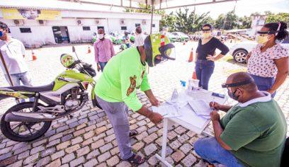 Cesta básica será entregue para mototaxistas com situação cadastral desatualizada