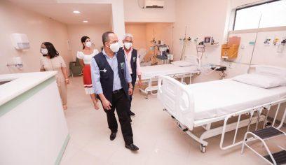 Leitos contratados no Hospital Santa Helena passam por vistoria