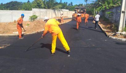Loteamento São Francisco recebe asfalto