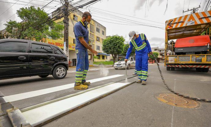 STT intensifica serviços de sinalização viária