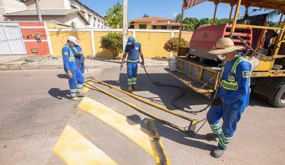 Projeto de Sinalização Viária segue a todo vapor no município