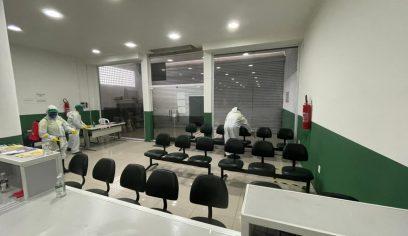 Serviço de desinfecção é realizado no Ciat e Sehab nessa sexta (19/02)