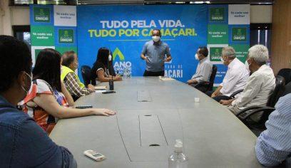 Elinaldo debate com Sesau e prefeito Bruno Reis sobre retomada das atividades econômicas