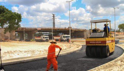 80% das obras do Viaduto do Trabalhador estão concluídas