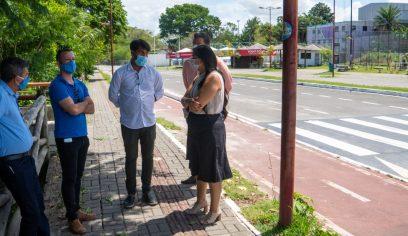 Sesp faz visita técnica na Av. Camaçari para tratar sobre iluminação