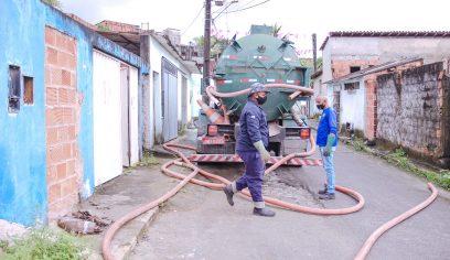 Prefeitura realizou mais de 3 mil limpezas de fossas nos últimos cinco meses