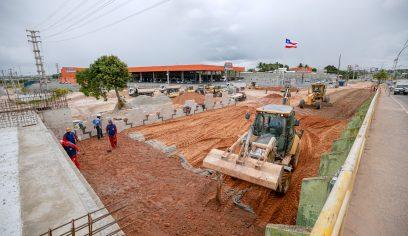 Obras do Viaduto do Trabalhador se mantém em ritmo acelerado