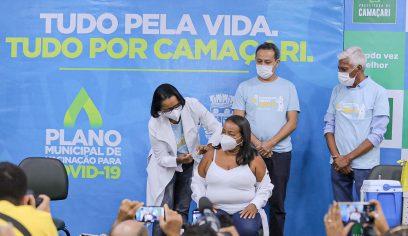 Camaçari tem a primeira pessoa vacinada para Covid-19