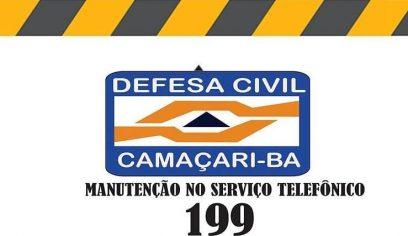 Rompimento de fibra óptica compromete atendimento da Defesa Civil pelo 199