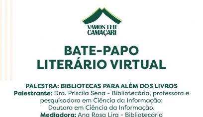 Bate-papo Literário Virtual acontece nesta terça (26/10)
